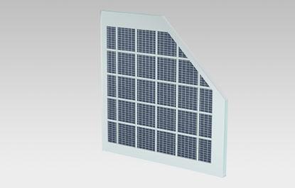 Vacuum insulated glass solar panel