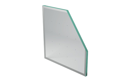 Enameled vacuum insulated glass